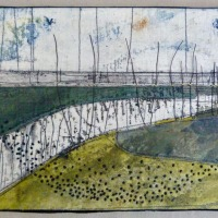 Burnham Overy Staithe walk - drawing and collage